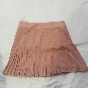 Pleated blush skirt